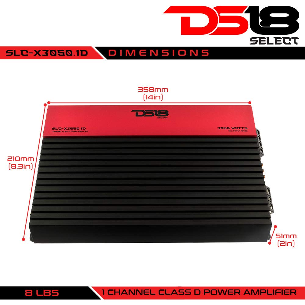 Amazon.com: DS18 SLC-X2250.1D Select Series 1 Channel Class D Monoblock Amplifier - 2250 Watss Max Power: Cell Phones & Accessories