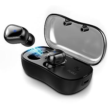 Auriculares Bluetooth, Syllable D900P Auriculares Inalámbricos Estéreo In-Ear Bluetooth 5.0 Manos Libres con Micrófono Dual con Caja de Carga para iPhone y ...