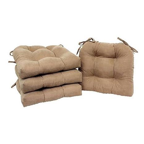 Amazon.com: unbrand Juego de 4 Cojín de silla almohadilla de ...