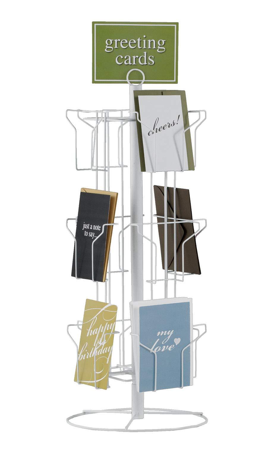 SSWBasics 12-Pocket Rotating Greeting Card Rack - 25''H x 12''D