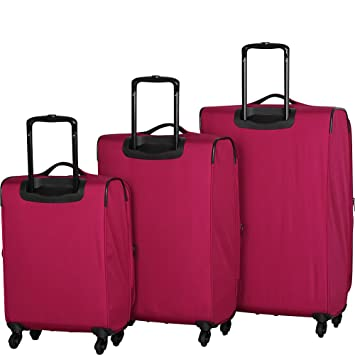 7aea68acb Amazon.com | it luggage Megalite 4 Wheel Spinner 3 Piece Luggage Set  (Charcoal) | Luggage Sets