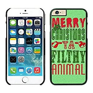 The Christmas Tree On Christmas Day Lovely Mobile Phone Protection Shell for iphone 6 Case-Unique Soft Edge Case(2015),Merry Christmas iPhone 6 Case 18 Black