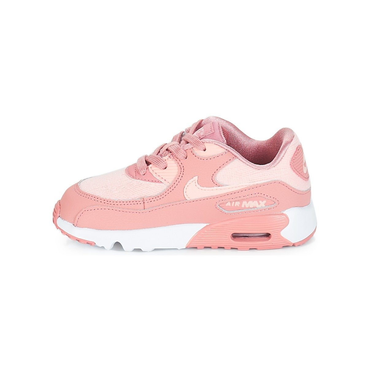 new style 7e9ee 7afc8 Nike Unisex Kids Air Max 90 Se Mesh (td) Competition Running Shoes,  Multicolour (Rust Storm Pink Guava Ice White 601), 9.5 UK  Amazon.co.uk   Shoes   Bags