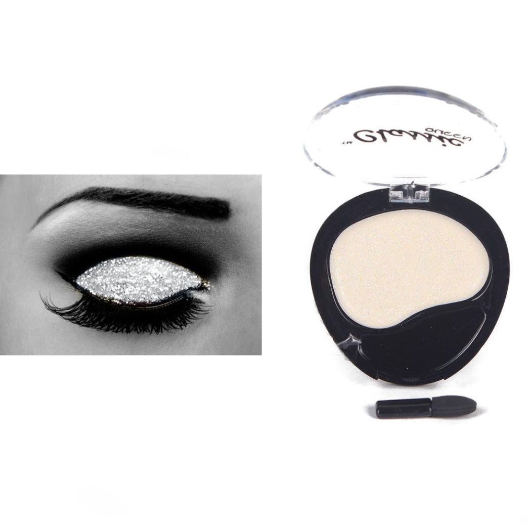 Binmer Monochrome Glitter Eyeshadow for Stage Performances Makeup Powder Cosmetic (B)
