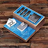 Flasks with Personalized Poker Chips, Cards, Dice Gambling Gift Sets_Explorer_SMALL