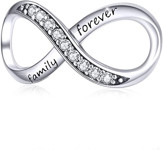 2 pcs Sterling Silver Smooth Infinity Charm Pendant