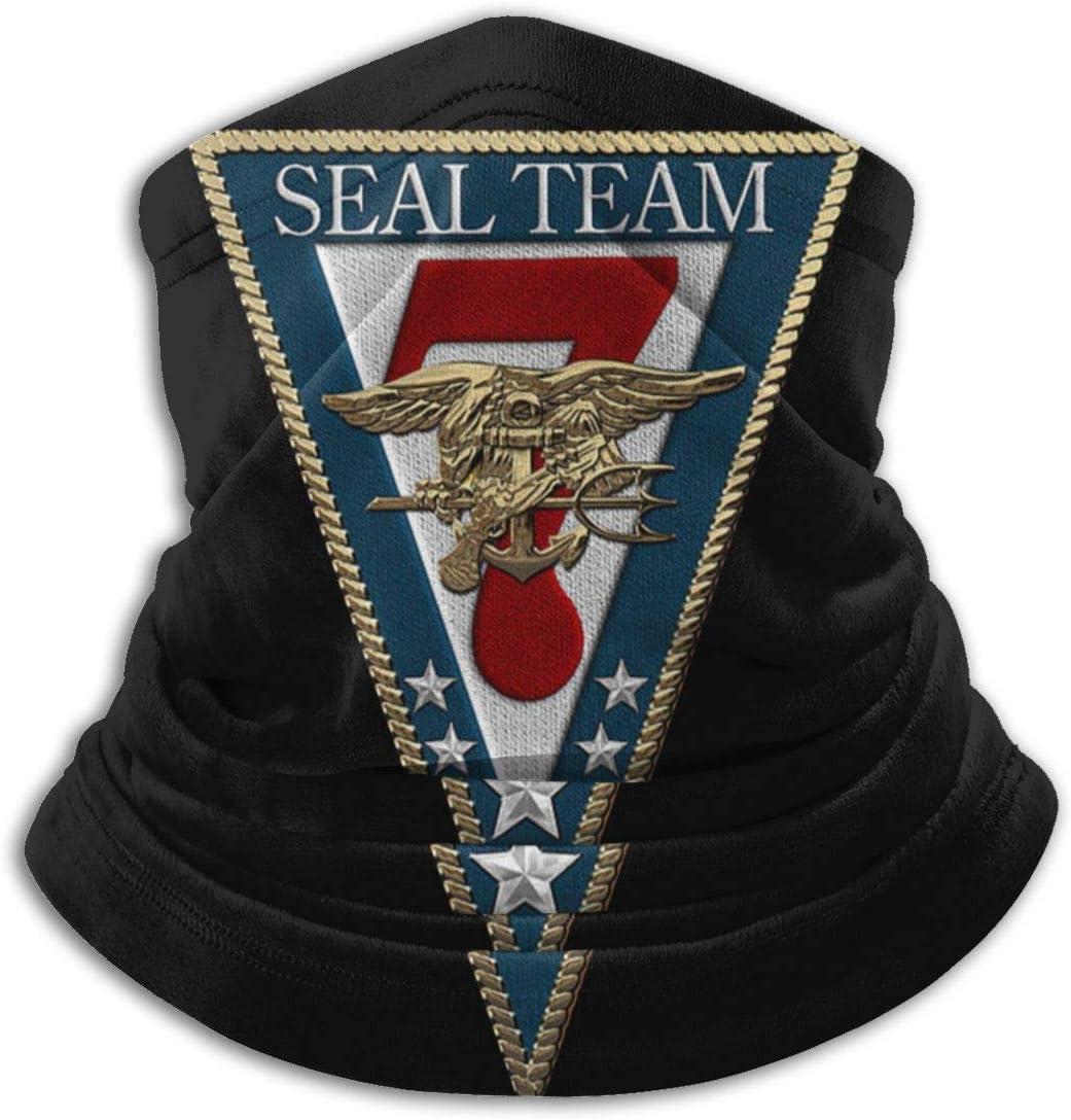 Halstuch KERYNP Multifunktionstuch Fleece US Navy Seal Team Seven 2 Unisex Fleece Neck Warmer Face Warmer Neck Tube Neck Gaiters Neck Scarf Schlauchtuch
