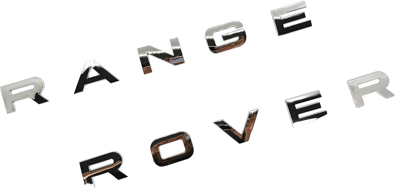 SUKRAGRAHA Replacement Hood Tailgate 3D Decal Letter Stickers Badge Emblem For Range Rover Sport Evoque 10-Letter Set (Silver)
