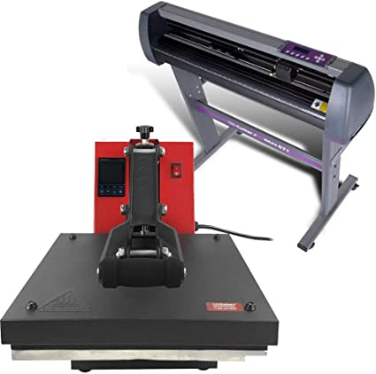"5in1 Heat Press 15/""x15/"" Vinyl Cutter Plotter 14/"" Hat Mug 3 Blades Usb Port"