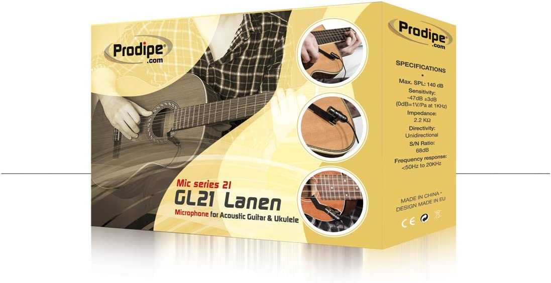 Prodipe GL-21 Microphone for Acoustic Guitar and Ukulele: Musical Instruments