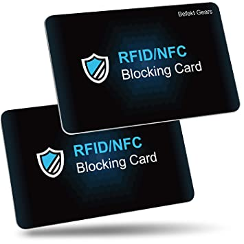 RFID de Blocker Bloqueo [2 Piezas],Befekt Gears RFID Tarjeta ...