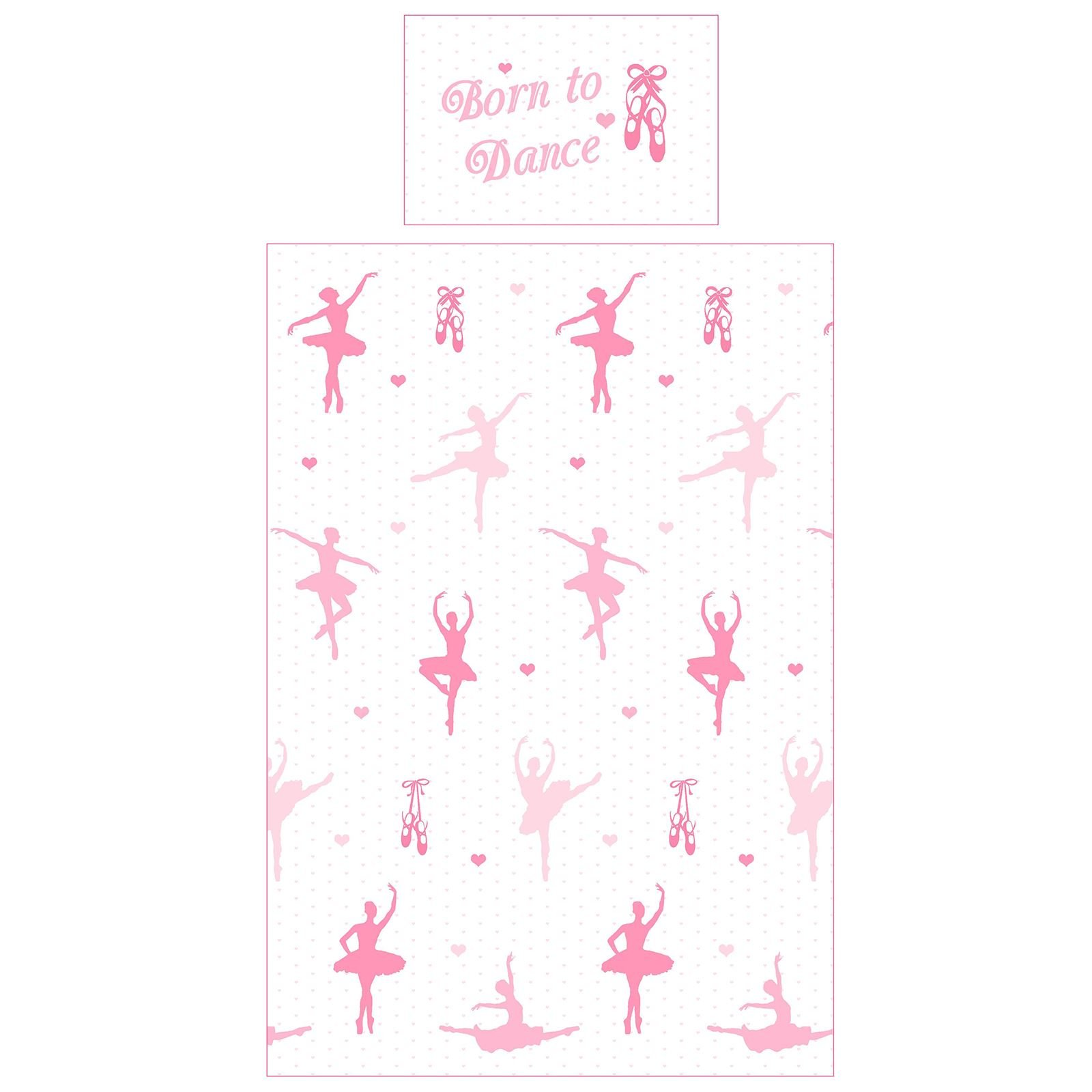 Price Right Home Born to Dance Ballerina Junior/Toddler Duvet Cover Set & Matching 66'' x 54'' Curtains (168cm x 137cm)