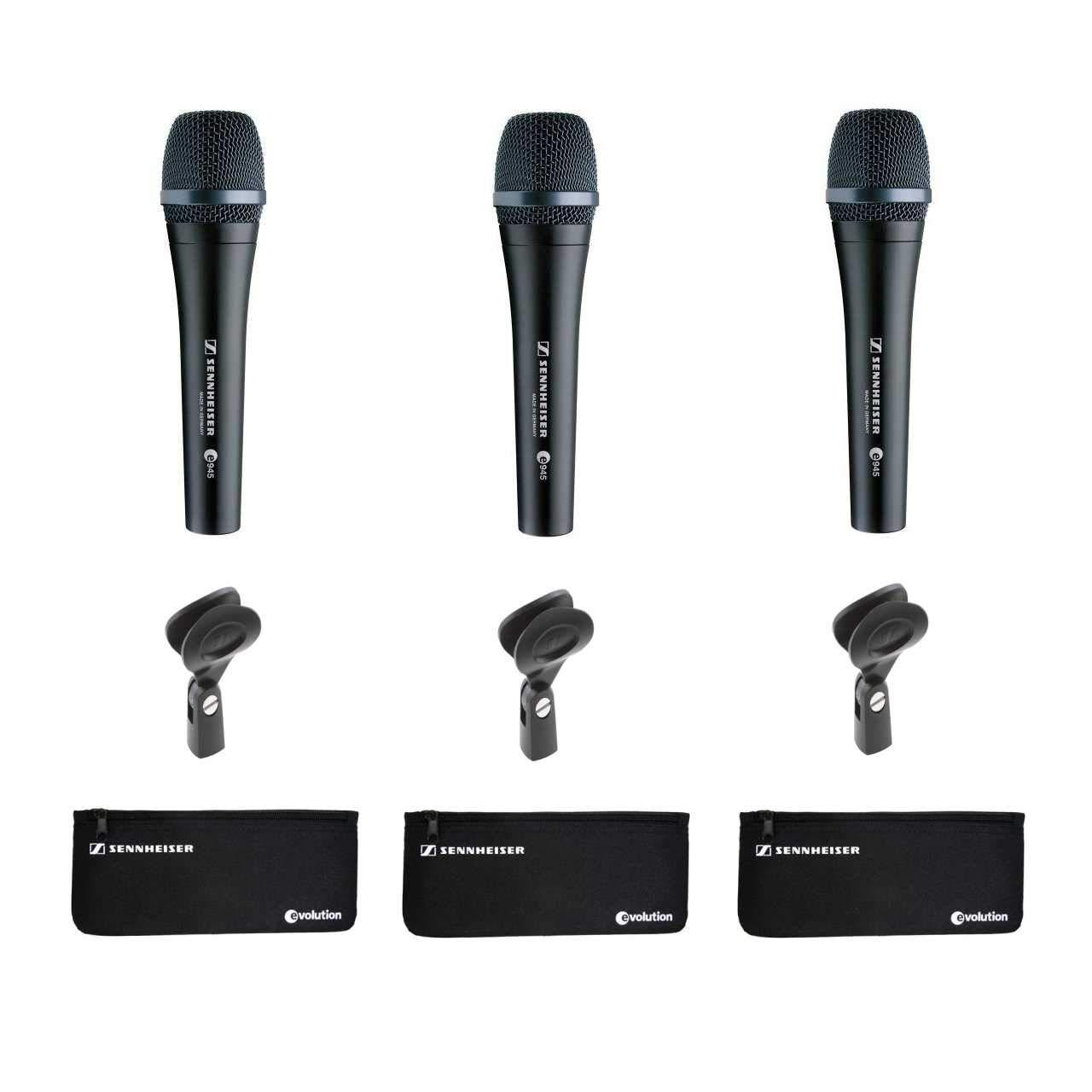 Sennheiser E945 Supercardioid Dynamic Handheld Vocal E935 Microphone 3 Pack Musical Instruments