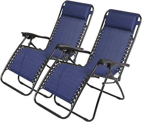 Zero Gravity Recliner Lounge Patio Pool Chair