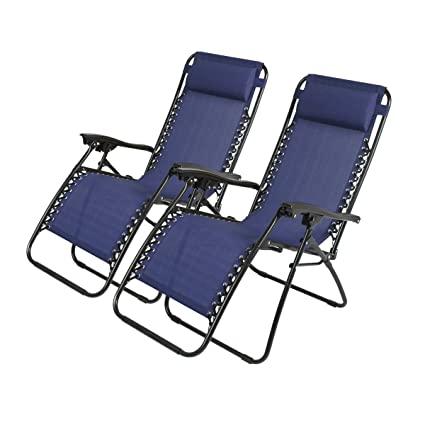 Brilliant Olaf Zero Gravity Recliner Lounge Patio Pool Chair 2 Pack Blue Andrewgaddart Wooden Chair Designs For Living Room Andrewgaddartcom