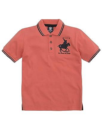 Cargo Bay Infant Boys Logo Polo T-Shirt - Cotton Blend Top Coral 2-