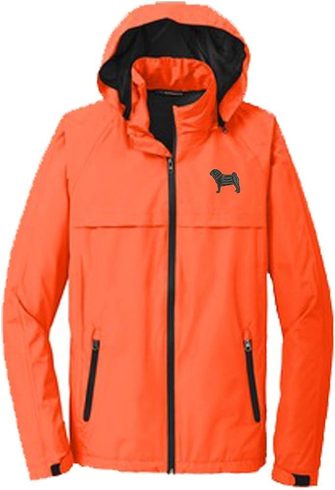 YourBreed Clothing Company Pug Black Mens Rain Jacket