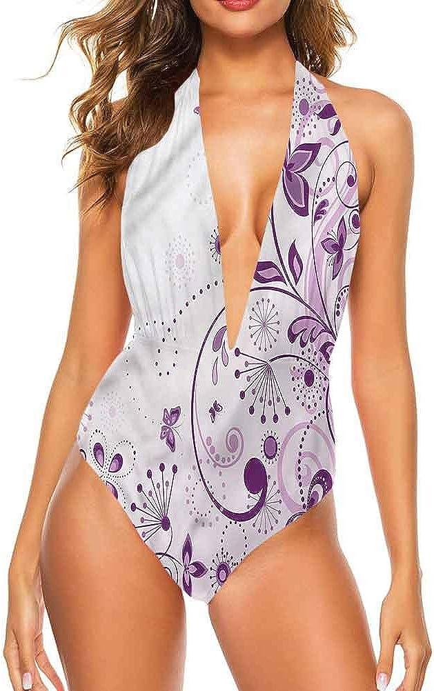 Ensemble de bikini taille moyenne Mauve, tendance à pois facile à régler et reste attaché Multi 15.