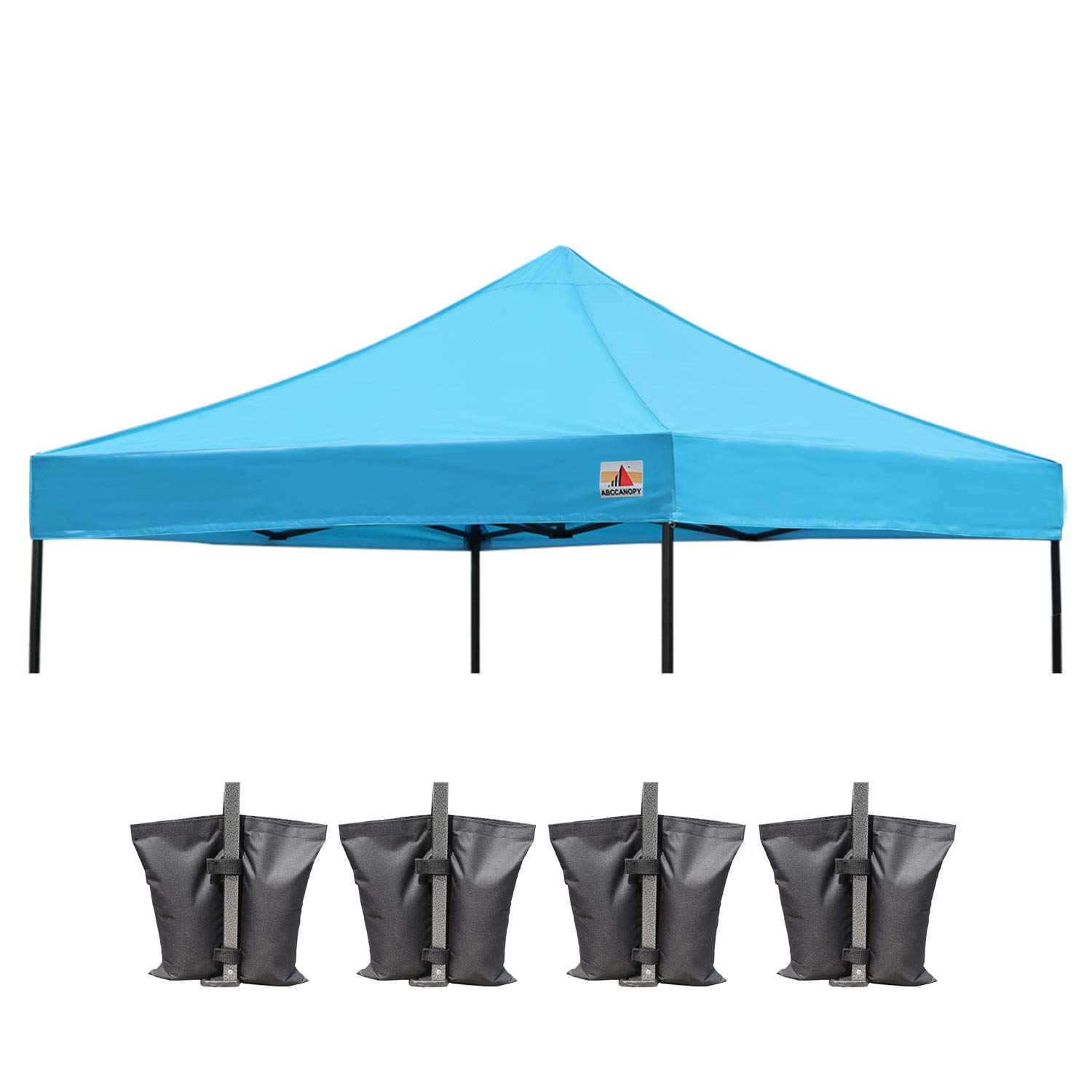 ABCCANOPY Replacement Top Cover 100% Waterproof (18+ Colors) 10x10 Pop Up Canopy Tent Top, Bonus 4 x Weight Bags (Brown) Deluxe