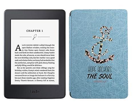 Inkmodo - Funda de Piel para Kindle Paperwhite 1 2 3 (Cierre a ...