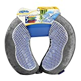 Cloudz Cool Gel & Bamboo Microbead Travel Pillow - Grey
