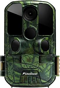 """[New Version] Usogood Trail Game Camera 20MP 1080P No Glow Night Vision Hunting Camera Motion Activated IP66 Waterproof 2.4"""" LCD for Outdoor Wildlife, Garden, Animal Scouting and Security Surveillance"""