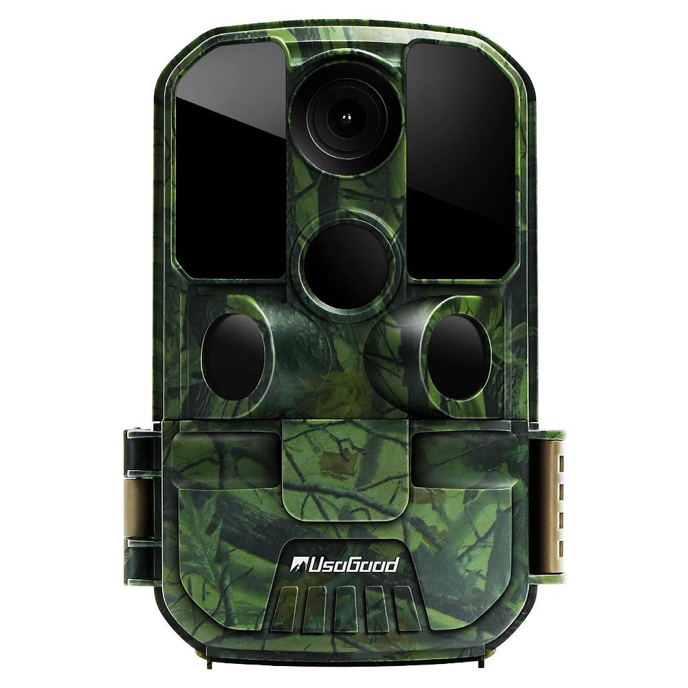 [New Version] Usogood Trail Game Camera 20MP 1080P No Glow Night Vision Hunting Camera Motion Activated IP66 Waterproof 2.4'' LCD for Outdoor Wildlife, Garden, Animal Scouting and Security Surveillance by usogood