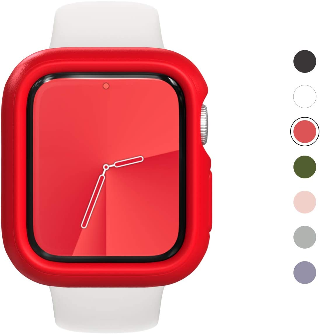 Protector Compatible apple Watch Series 5 / 4-40mm rojo