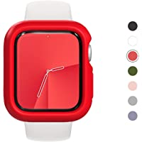 RhinoShield Bumper Case for Apple Watch Series 5/4 [ 44mm ] Slim Protective Cover, Lightweight and Shock Absorbent - Red