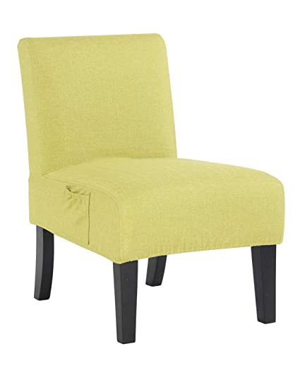 Altrobene Fabric Armless Contemporary Accent Chair Slipper Side Chair For  Living Room Bedroom With Solid Wood