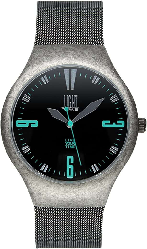 Light Time Reloj Mesh Vintage Plata Vieja