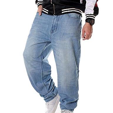 Pantalones Vaqueros Hombre Hip Hop Baggy Jeans Danza ...