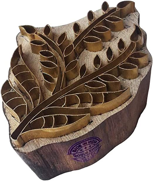 Royal Kraft Retro Madera Sellos Lat/ón Planta Forma Arcilla Impresi/ón Sellos