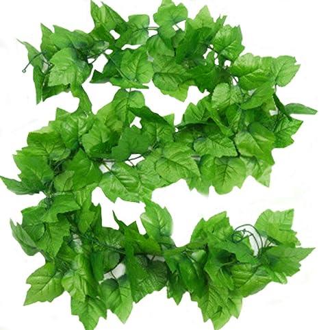 Guirnalda de hojas de vid artificiales, de 2,4 m, para colgar en casa, jardín, pared, 2 unidades: Amazon.es: Hogar