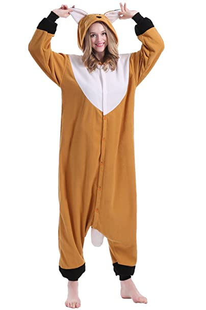 brlmall tamaño Unisex para Adulto Pijama – Peluche One Piece Cosplay Zorro Animal Disfraz