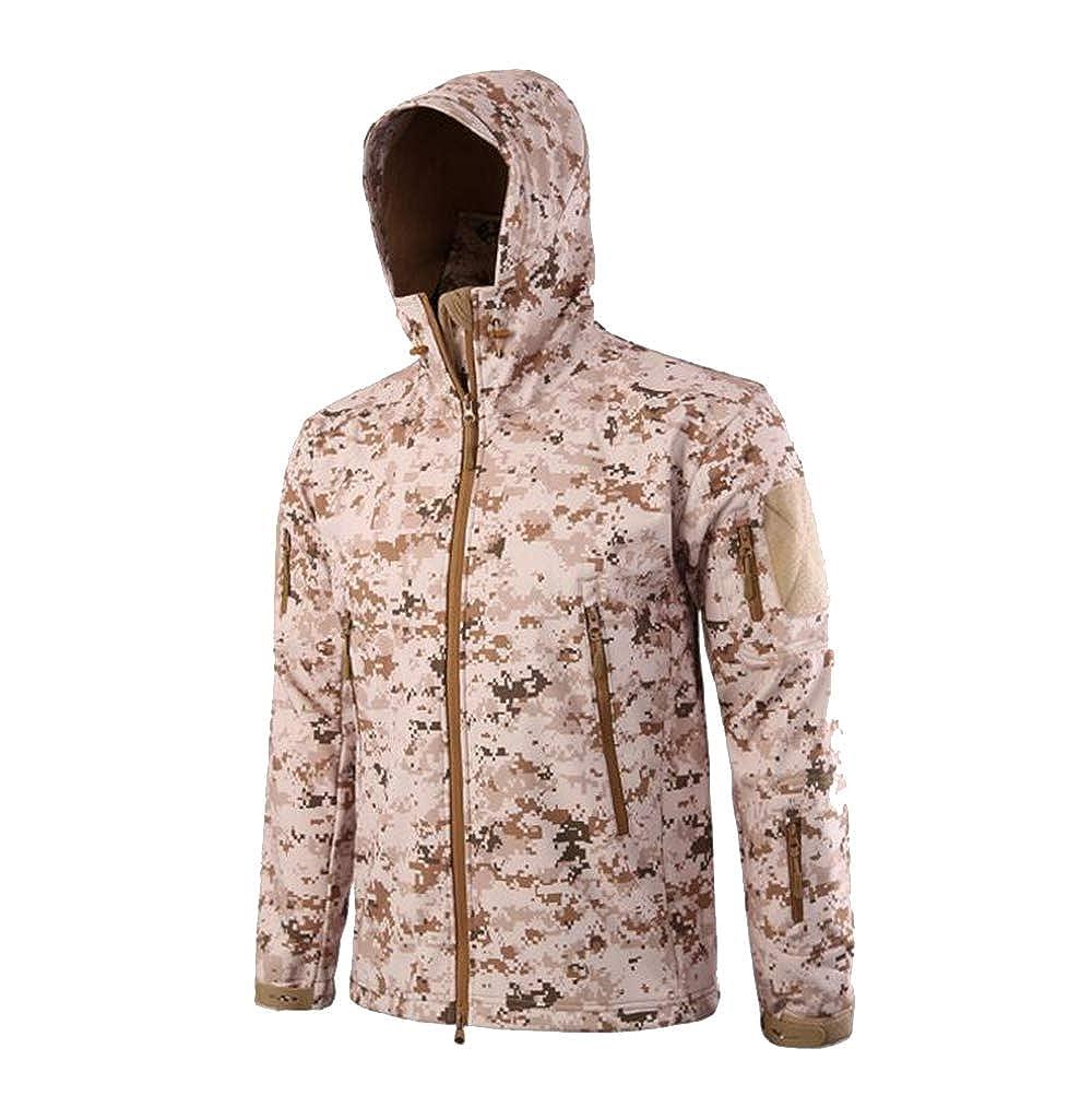 cffd8ee4293 Viviwin Army Camouflage Coat Military Jacket Waterproof Windbreaker Raincoat  Hunt Outerwear Jackets Coats Desert M at Amazon Men s Clothing store