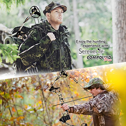 SereneLife Compound Bow, Adjustable Draw Weight 30-70 lbs with Max Speed 320 fps - Right Handed (SLCOMB10) by SereneLife (Image #5)