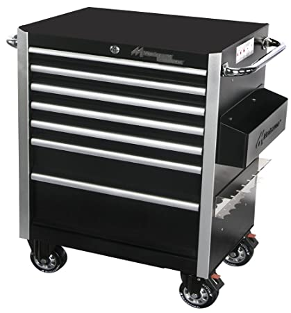 Montezuma BK2606MZ 26 Inch Crossover 6 Drawer Roller Cabinet Toolbox Black