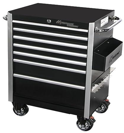 Montezuma BK2606MZ 26 Inch Crossover 6 Drawer Roller Cabinet Toolbox Black