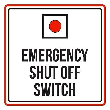 Amazon.com: Apagado de emergencia Interruptor Rojo, Negro y ...