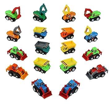 Vehículos de Construcción Mini Coches Micromachines Coches Gruas de Juguete Miniaturas Coches Pull Back Pala Excavadora