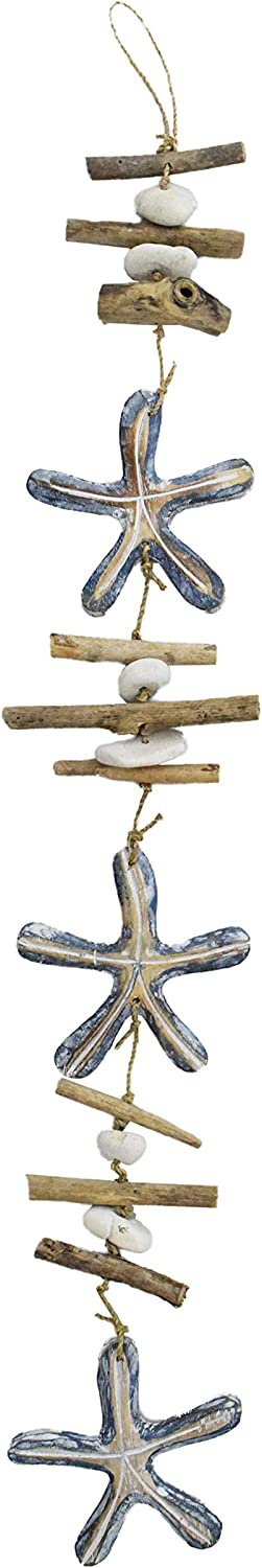 Driftwood Garland Starfish Nautical 100 Cm Garland Hanger Wooden Garland Amazon Co Uk Kitchen Home