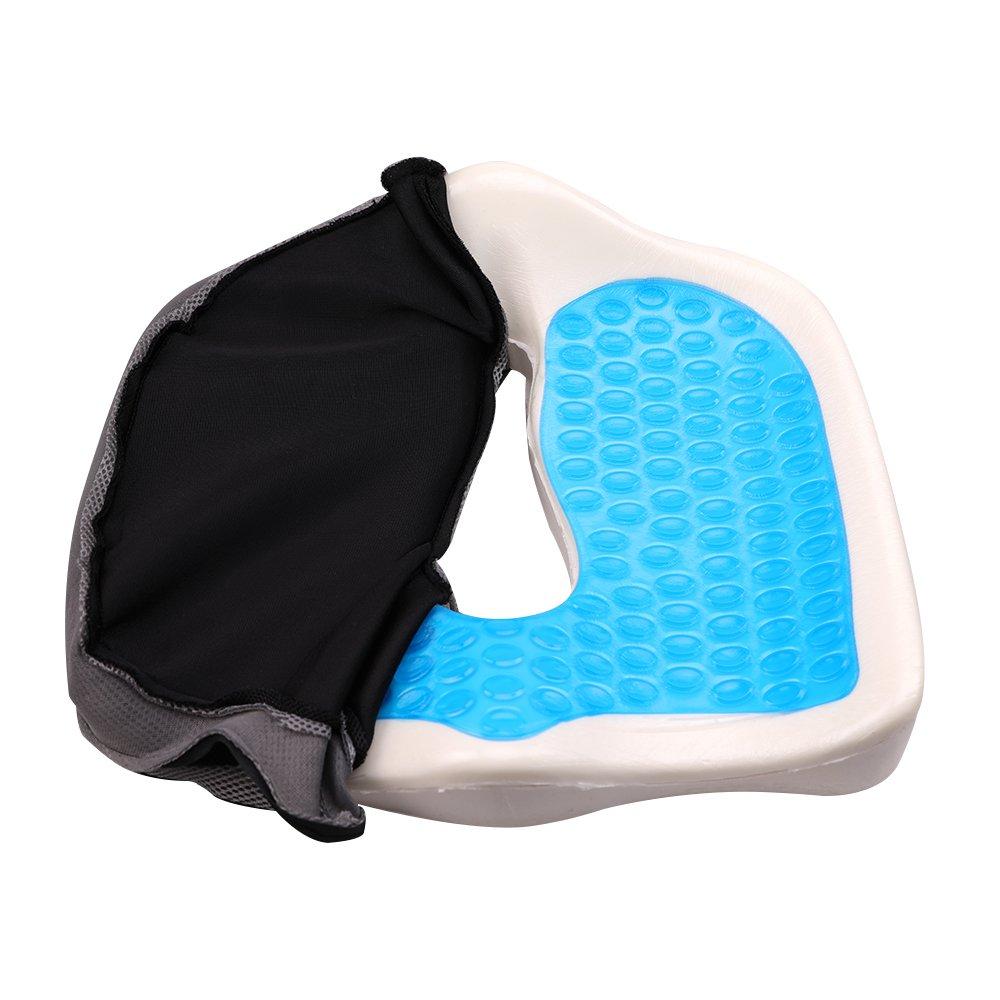 LINGJUN Gel Memory Seat Cushion Anti-Slip Bottom Sitting Pillow for Office Chair Car Seat Cushion