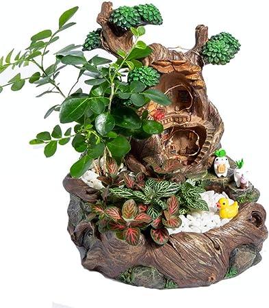 Escultura De Jardín Hada del jardín plantador Pot suculentas envase flor Hada del jardín y dulce