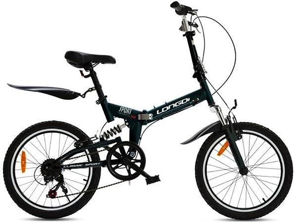 XQ- Pliegue Bicicleta 20 Pulgadas Velocidad Variable Suspensión Luz (Color : Negro) : Amazon.es: Hogar
