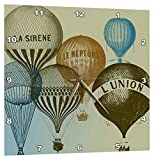 3dRose Vintage French Hot Air Balloons – Wall Clock, 13 by 13-Inch (DPP_178940_2) Review