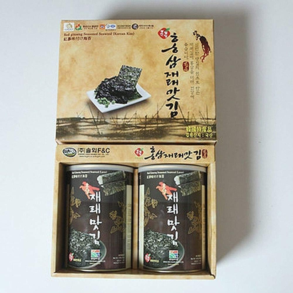 Korea Gwancheon Seaweed Redginseng Flavor 30g x 2 Gift Set
