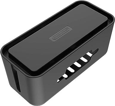 Caja Cables para Regletas Enchufes- NTONPOWER Caja para Cables de Plástico ABS con Pies de Goma,