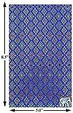 Handmade Blue Thai Fabric Check Presenter Check Book Holder for Restaurant,Check Register for Hotel, Waitstaff Organizer, Waitress Server Book with Money Pocket, Check Pad Holder, Waiters Wallet.