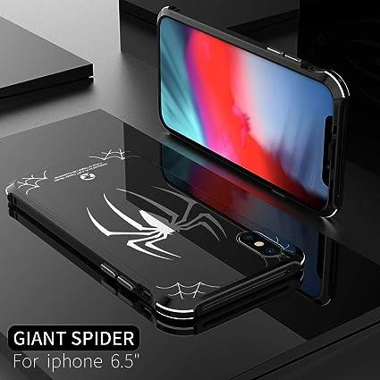 Amazon | MQman iPhoneXs Max ケース アルミバンパー スパイダー ...